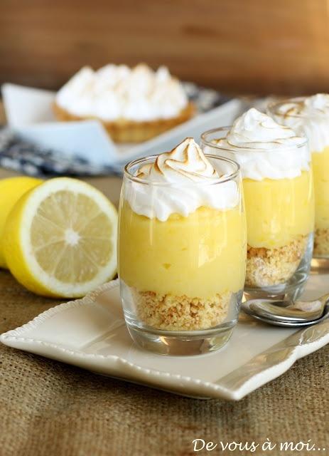Une bien jolie présentation pour de la tarte au citron meringuée !