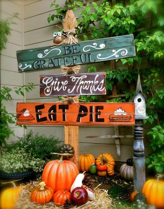 Des panneaux de Thanksgiving aux USA.