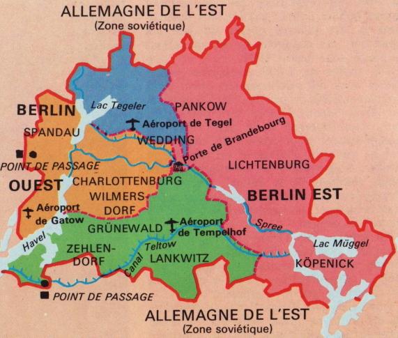 Carte Allemagne Apres Guerre.Occupation De L Allemagne Apres La Seconde Guerre Mondiale Le Qg 1