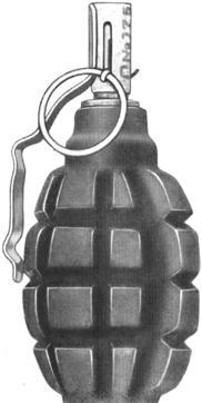grenade défensive F1 armée URSS   Le QG 1/72e de Twist Again